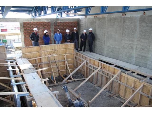 concejo municipal visita construcci n de piscina temperada